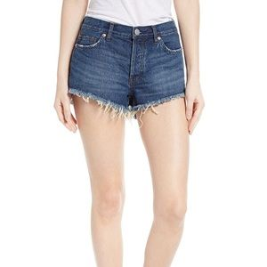 Free people frayed cutoff denim jean shorts 28